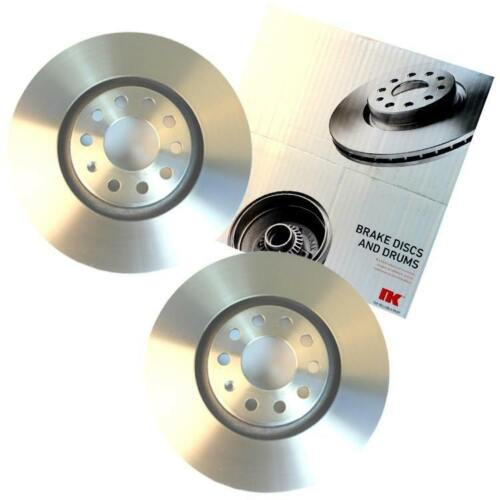 2 NK Brake Discs Front for Nissan Micra