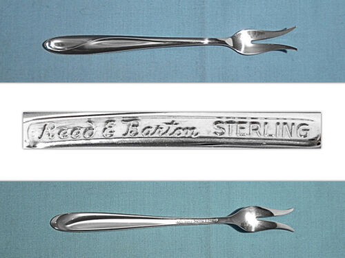 REED & BARTON STERLING PICKLE / OLIVE FORK ~ SILVER SCULPTURE ~ NO MONO