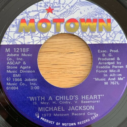 "Michael Jackson - With A Child's Heart // 7"" - 1. US-Pressing 1973 - TOP"