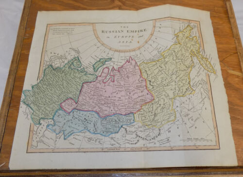 1817 Antique COLOR Map by Cooke///RUSSIAN EMPIRE IN EUROPE AND ASIA