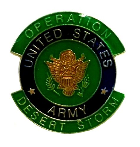 Operation Desert Storm United States Army Hat Tac or Lapel Pin Collectors ItemOriginal Period Items - 10953