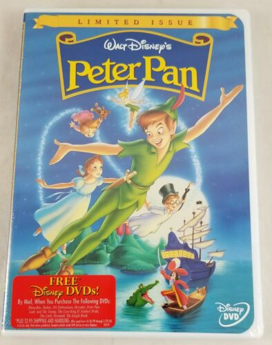 New Walt Disney's Peter Pan 1999 Limited Issue DVD Authentic NTSC Region 1 USA