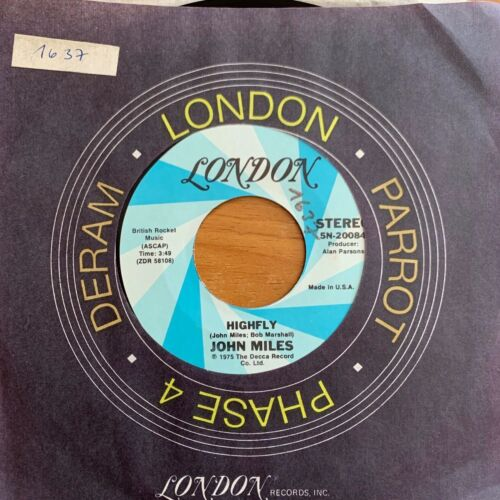 """John Miles - Highly // 7"""" - 1. US-Pressing 1975 - TOP condition"""