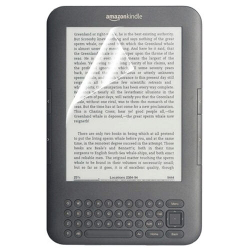 Screen Protector for Amazon Kindle 3 Keyboard with Cloths - 3 pack | ZedLabz