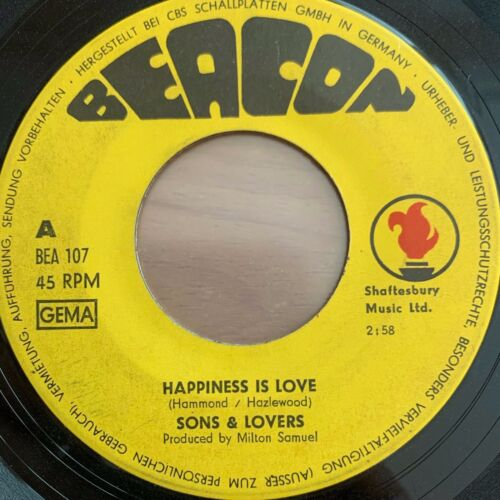 """Sons & Lovers - Happiness Is Love // 7"""" - 1. German-Pressing 1969"""