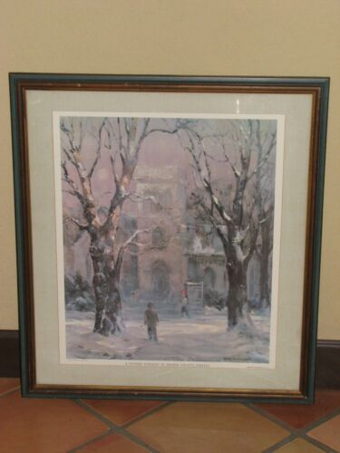 Vintage A Winter Evening In Brown County, Indiana Limited Edition Signed Print