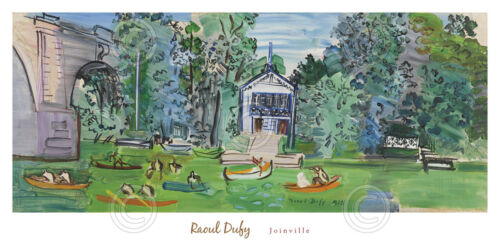 Joinville, 1938 by Raoul Dufy Boat Art Print Museum Seascape Poster 40x20
