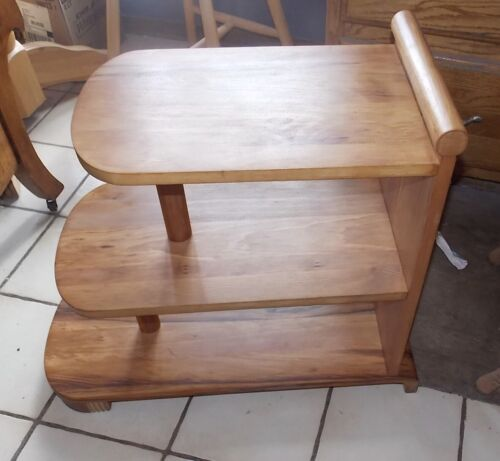 Mid Century Birch 3 Tier End Table / Side Table  (T207)