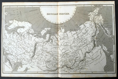 1809 Aaron Arrowsmith Large Antique Map of the Russian Empire