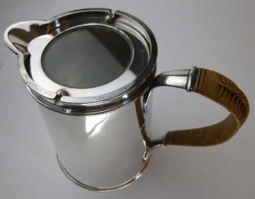 Meriden Silver syrup pitcher with glass lid antique 19th c