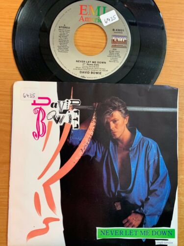 """David Bowie - Never Let Me Down // 7"""" - 1. US-Pressing 1987 - TOP condition"""