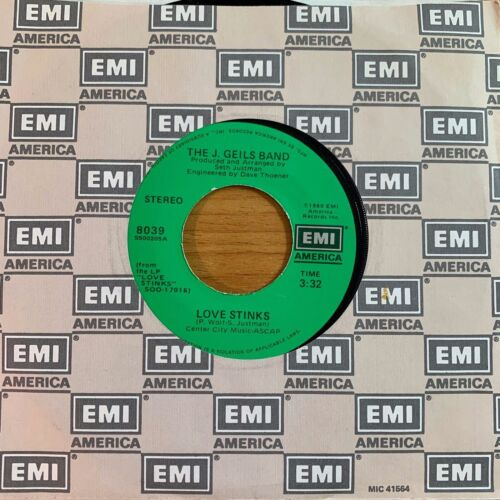 """J.Geils Band - Love Stinks // 7"""" - 1. US-Pressing 1980 - TOP condition"""