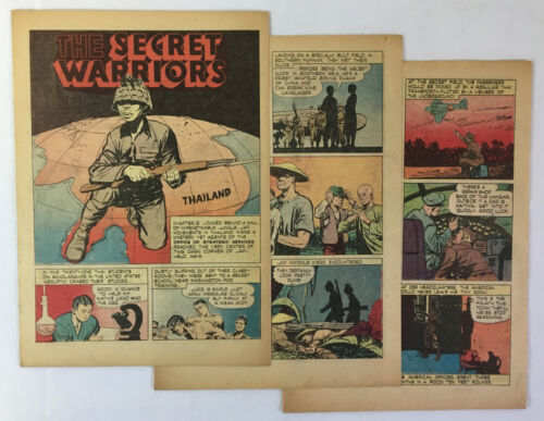 1946 five page cartoon story ~ SECRET WARRIORS ~ OSS in THAILAND during WWIIOther Eras, Wars - 135