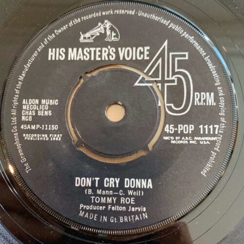 """Tommy Roe - Gonna Take A Chance // 7"""" - 1. UK-Pressing 1963"""