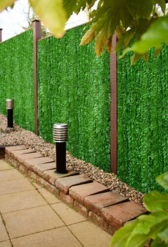 Best Artificial Conifer Leaf Screening Hedging Wall Garden Fence Landscaping
