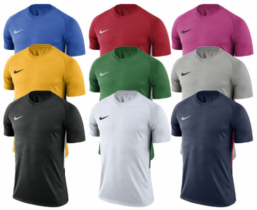 Nike MENS T-Shirt Top Tiempo Jersey Tee Gym Football Sports Training S M L XL