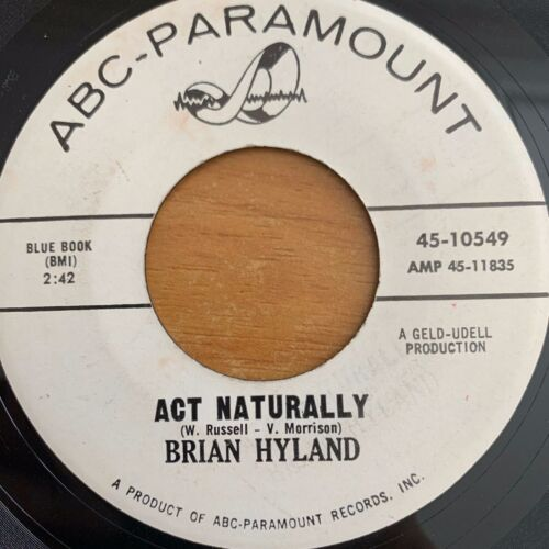 """Brian Hyland - Out Of Sight, Out Of Mind // 7"""" - 1. US-Press. 1964 - Promo Copy"""