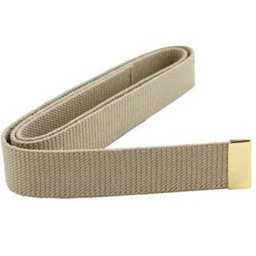 """US Marine Corps Belt Khaki Cotton With 24k Gold Plated Tip 44"""" X 1 1/4"""" Wide Marine Corps - 66531"""