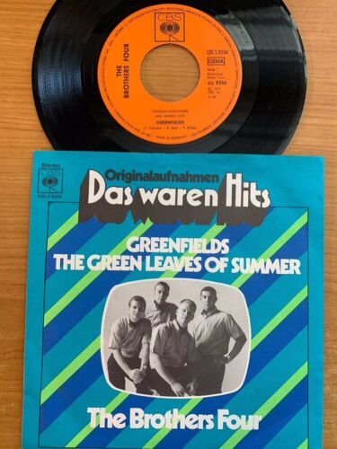 """Brothers Four - Greenfields // 7"""" - German-Pressing 1972 - TOP condition"""