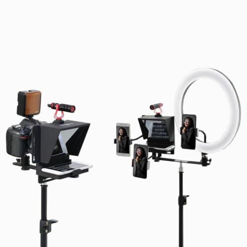 """7"""" Mini Portable Teleprompter For Smartphone Interview Speech live streaming"""