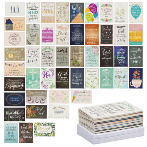 Juvale 48-pack Christian All Occasion Greeting Cards Set With Envelopes, 4