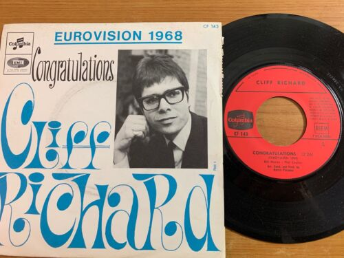 """Cliff Richard - Congratulations // 7"""" - 1. French-Pressing 1968 - TOP"""