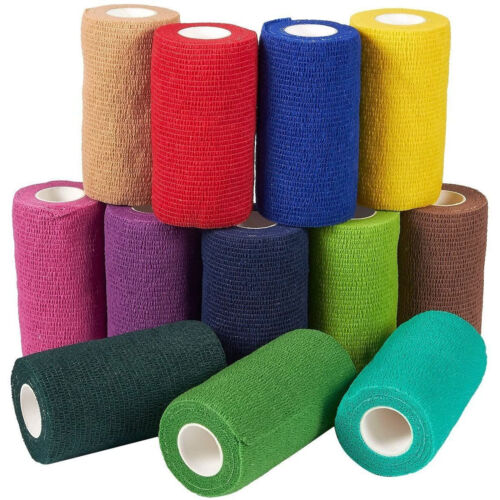 12 Rolls Self Adherent Wrap Bandage Medical Vet Tape First Aid 12 Colors 4