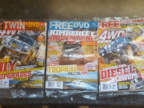 4WD ACTION DVDS X 3 magazines and dvds new sealed