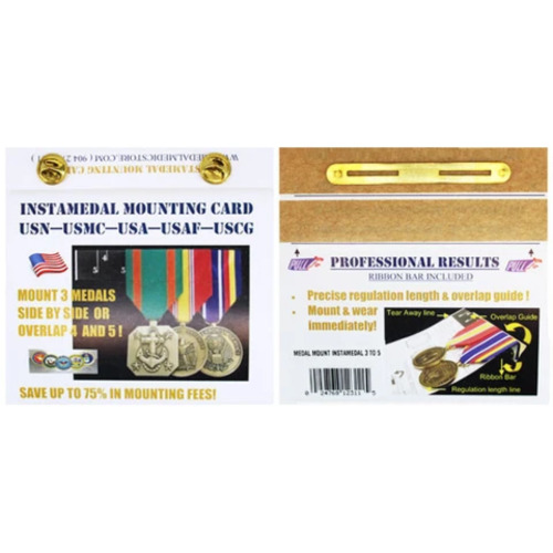Instamedal Mounting Card 3 to 5 Full Size Medals USMCMarine Corps - 66531