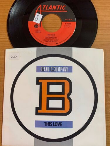 """Bad Company - This Love // 7""""  1. US-Pressing 1986 - TOP"""