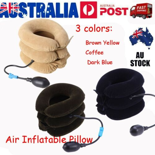 Air Inflatable Pillow Cervical Neck Head Pain Traction Support Brace Device 2020