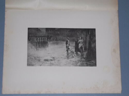 "1895 J. LE BLANT PHOTOGRAVURE  ""THE DEATH OF GENERAL CHARETTE"""