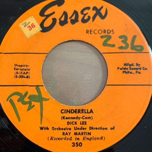 """Dick Lee with Orch. Ray Martin - Cinderella // 7"""" - US-Pressing 1954"""