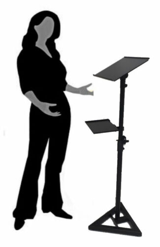 Portable Projector Laptop Holder Guestbook Display Music Speaking Stand