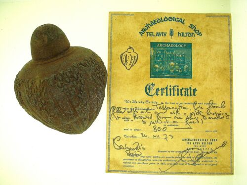 EX. MOSHE DAYAN COLLECTION - CRUSADE PERIOD FIRE BOMB - PROVENANCE & CERTIFICATEHoly Land - 162917