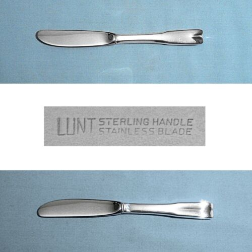 """LUNT STERLING 6 1/4"""" MODERN HOLLOW BUTTER SPREADER(S) ~ COLONIAL THEME ~ NO MONO"""