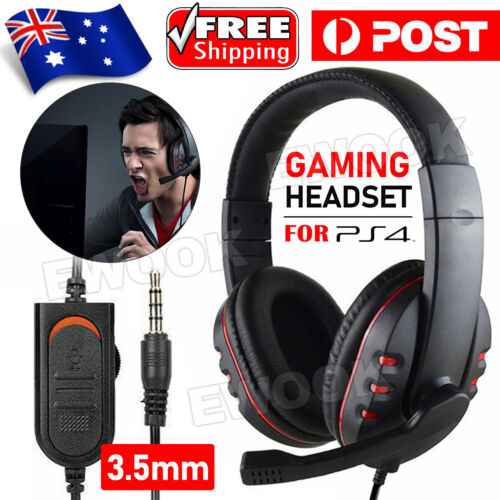 Durable Stereo Gaming Headset Headphone Wired with Mic for PC Xbox One For PS4