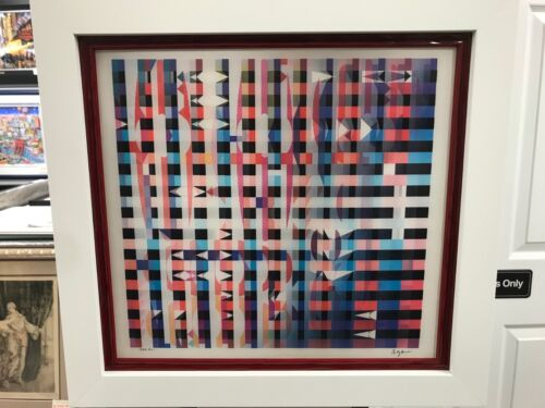 """Yaacov Agam Agamograph  """" Cuernavaca """" Signed & Numbered Limited Edition Framed"""