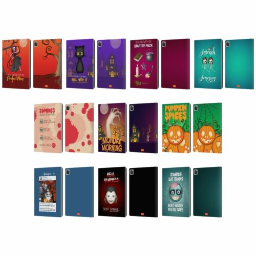 OFFICIAL emoji® HALLOWEEN PARODIES LEATHER BOOK WALLET CASE COVER FOR APPLE iPAD