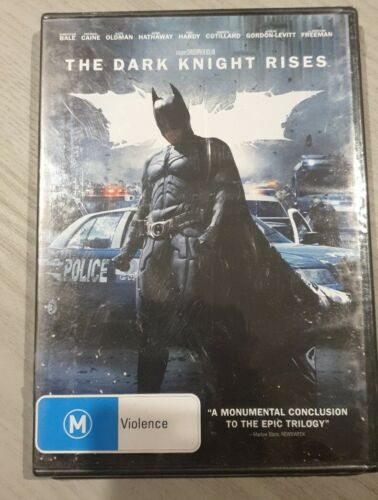 The Dark Knight Rises DVD Region 4 PAL (NEW) AND SEALED FREE POSTAGE