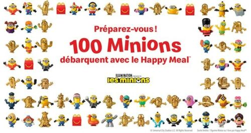 Les Minions 2 Happy Meal Mc Donald 100 figurines à collectionner / NEUF / Mc Do