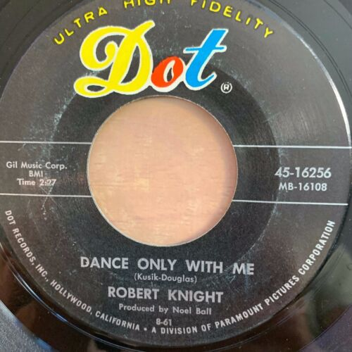 """Robert Knight - Because // 7"""" - 1. US-Pressing 1961 in very good condition"""