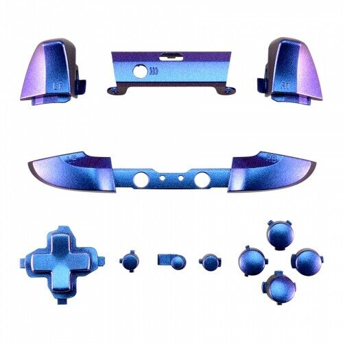 Buttons for Xbox One Slim 1708 controller set - Chameleon Blue/Purple | ZedLabz