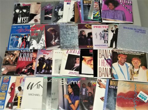 1980's Vinyl Records W/ Picture Sleeves 250 Choices #2 7