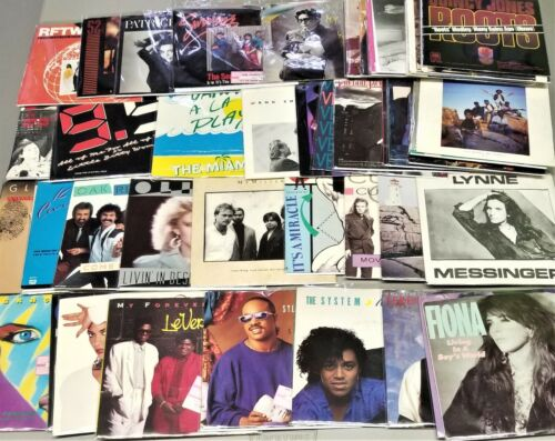 1980's Vinyl Records W/ Picture Sleeves 250 Choices #3 7