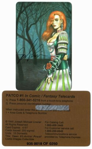 Dawn - Phone card #3 - signed by Joseph Linsner - Artist Proof [#'ed to 250]