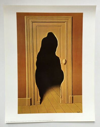 The Surprise Answer by Rene Magritte Art Print Rare 1980's Poster 22x28