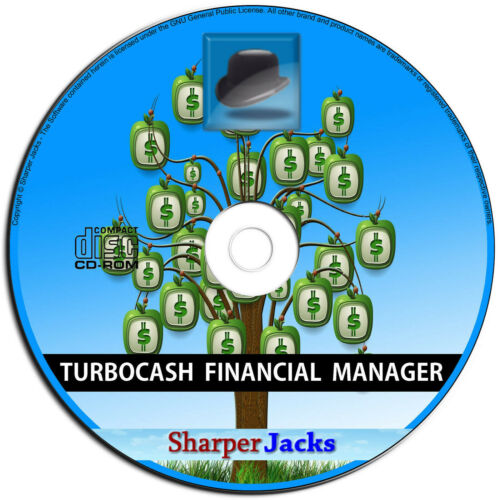 NEW & Fast Ship! TurboCASH Accounting / Bookkeeping / Finances Software PC Disc