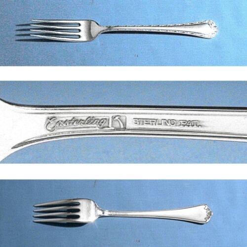 "EASTERLING STERLING 7 3/8"" FORK(S) ~ ROSEMARY ~ NO MONO"
