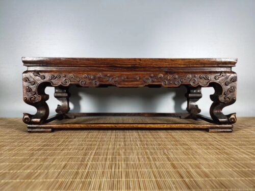 16'' China antique Tea table natural wood Table Old Wood Tea table shell